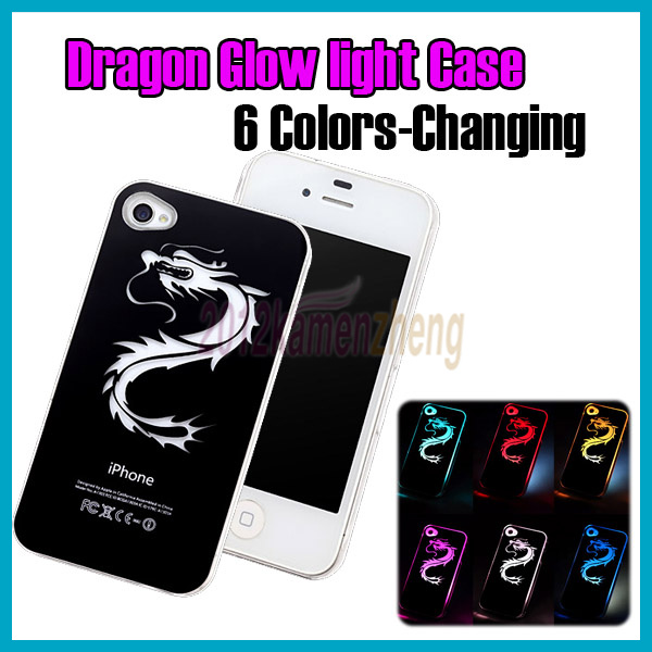 FREE-SHIP-Sense-Flash-light-Case-Cover-for-iPhone-4-4S-4G-LED-LCD-Color-Change-A