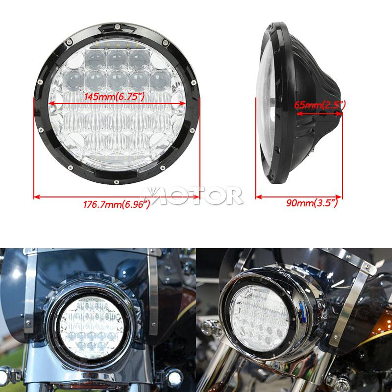 7 led daymaker projector drl headlight for harley softail. Black Bedroom Furniture Sets. Home Design Ideas