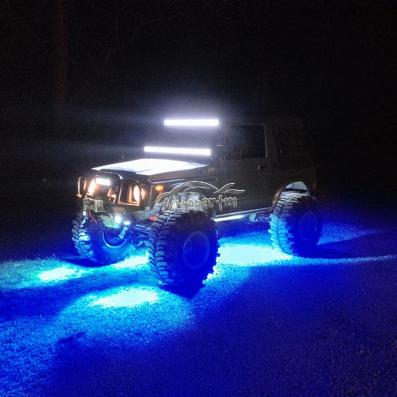 4x Pod Mini Bluetooth Rgb Led Rock Lights 4x4 Offroad