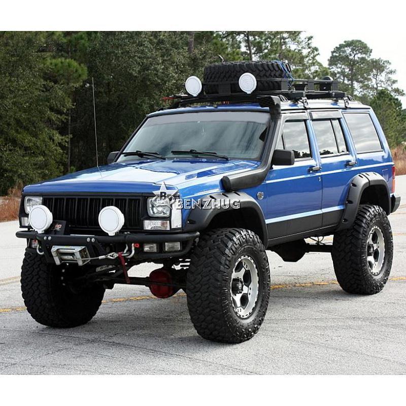 6x wide pocket fender flares black fit 1984 2001 jeep. Black Bedroom Furniture Sets. Home Design Ideas