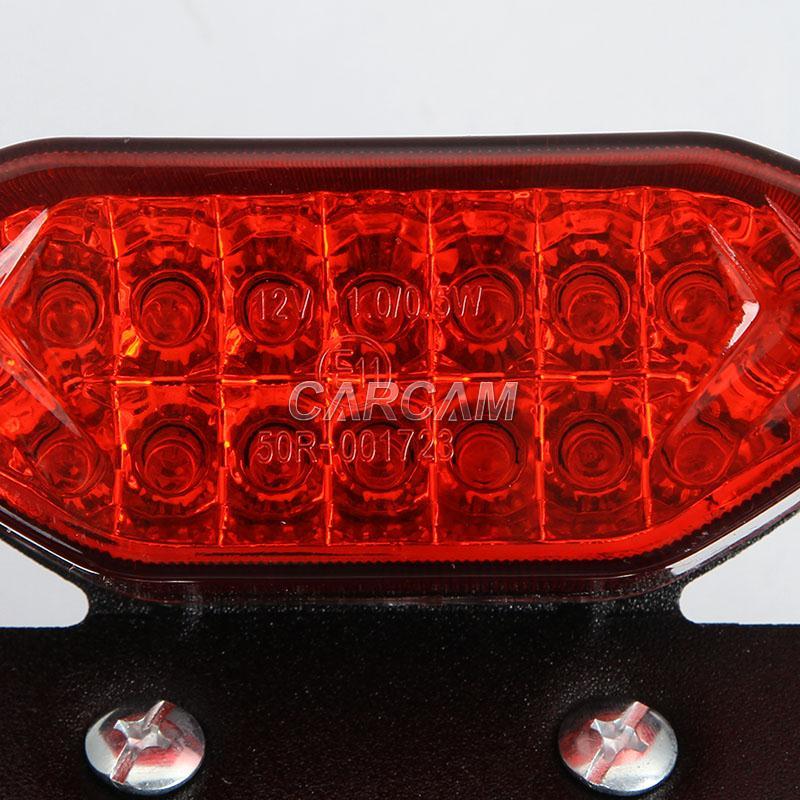 license plate led red tail light for suzuki dr650se drz125. Black Bedroom Furniture Sets. Home Design Ideas