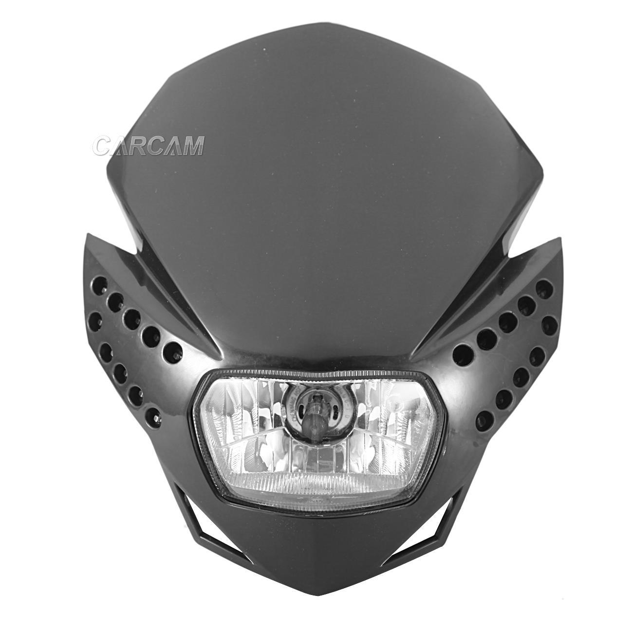 Black Led Headlight Fairing For Ktm Exc Mxc 250 400 450 520 525 Sx Smr Supermoto Ebay