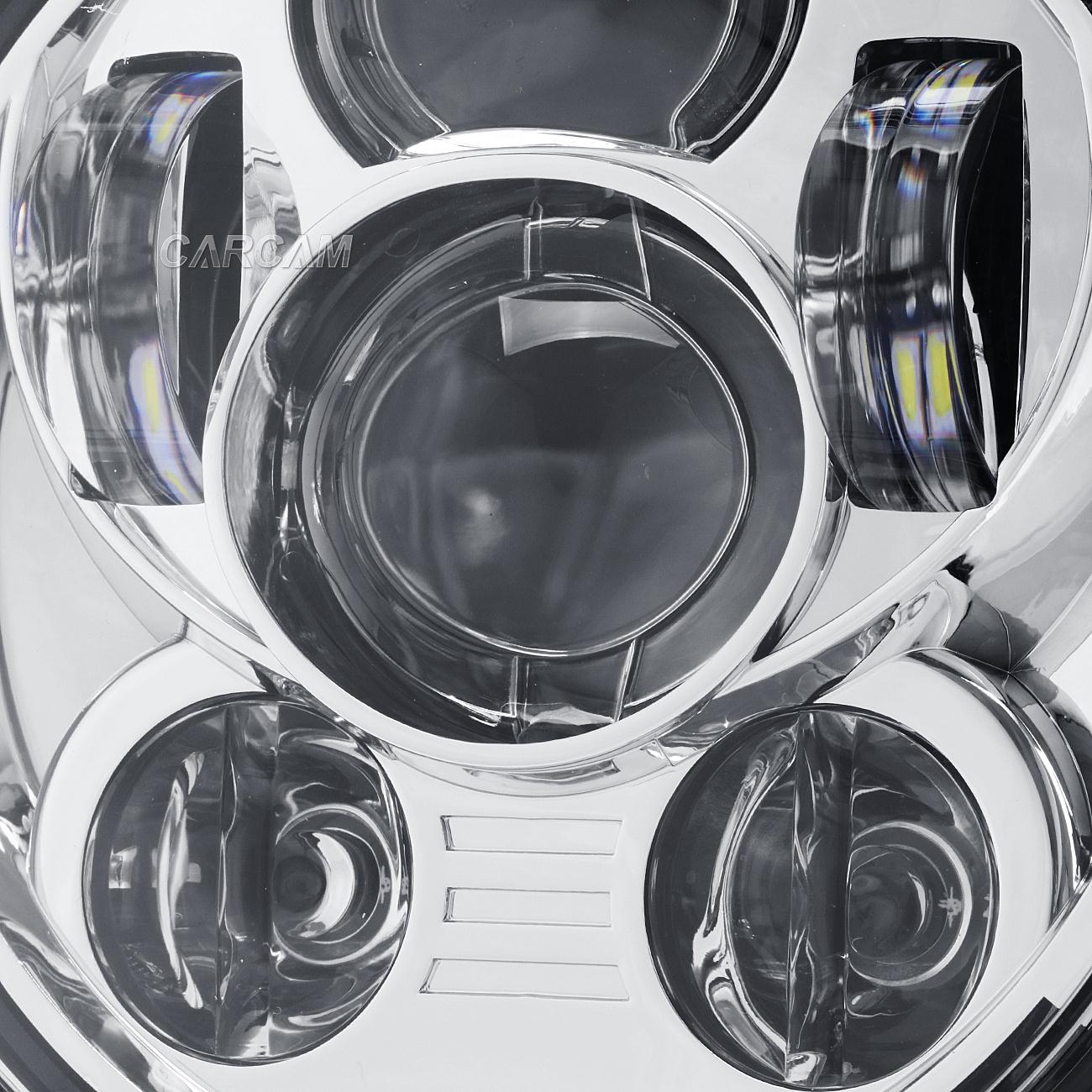 5 3 4 Quot 45w Chrome Led Daymaker Headlight Bulb For Harley