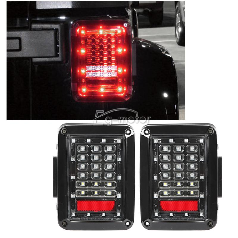 Integrated Tail Lights Reverse Backup Rear Led Lamps Fit