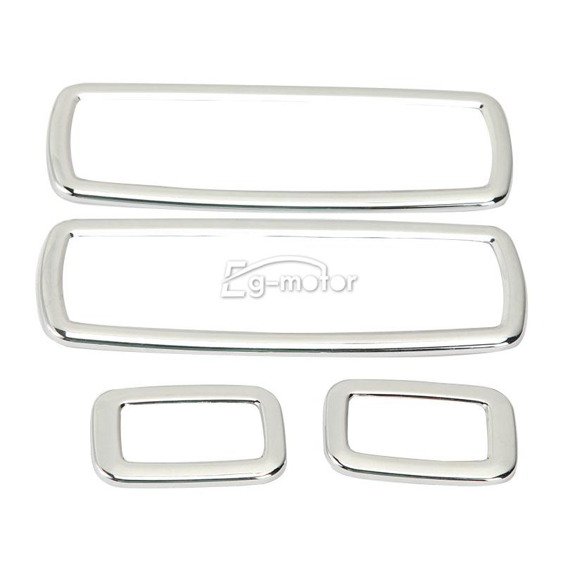 chrome interior door window switch cover trims fit jeep grand cherokee 2012 2014 ebay. Black Bedroom Furniture Sets. Home Design Ideas