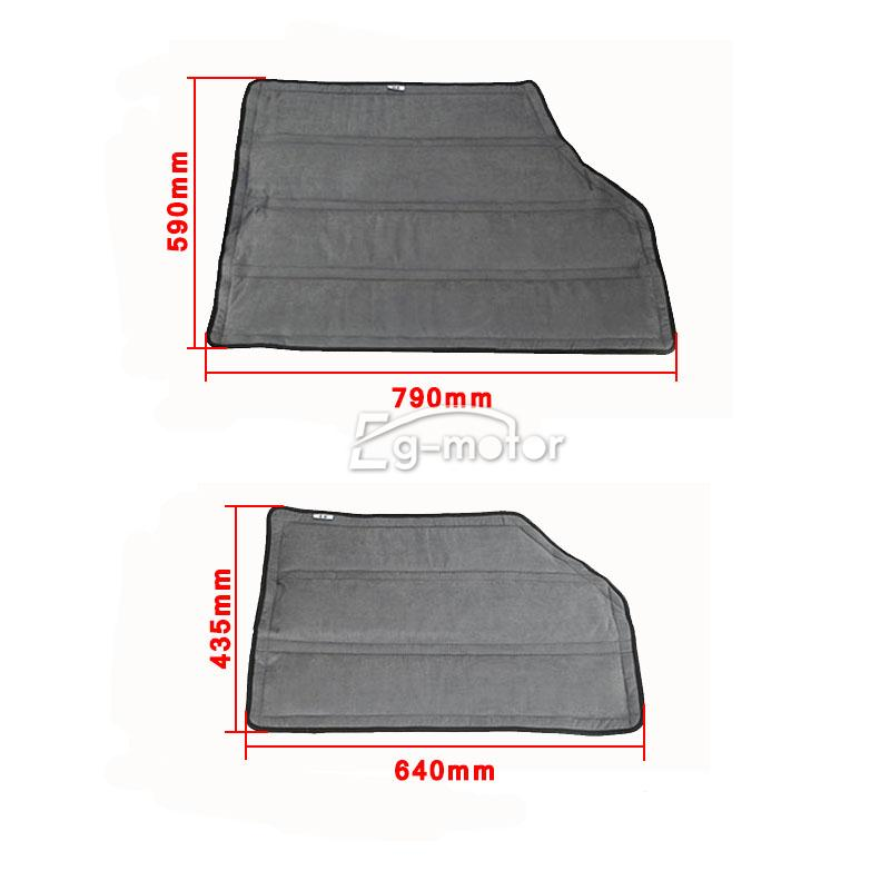 Grey Black Hard Top Insulation Kit For 12 15 Jeep Wrangler