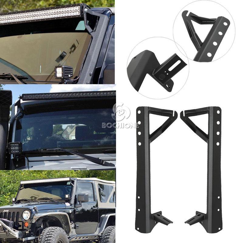 15 jeep jk 52 straight led light bar mount with lower corner brackets. Black Bedroom Furniture Sets. Home Design Ideas