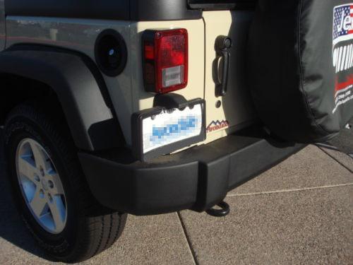 For Jeep Wrangler Rear License Plate Holder Bracket Light