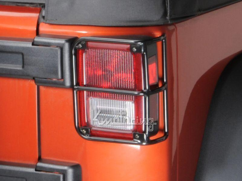 tail light lamp guards covers fits for 2007 2015 jeep wrangler jk. Black Bedroom Furniture Sets. Home Design Ideas