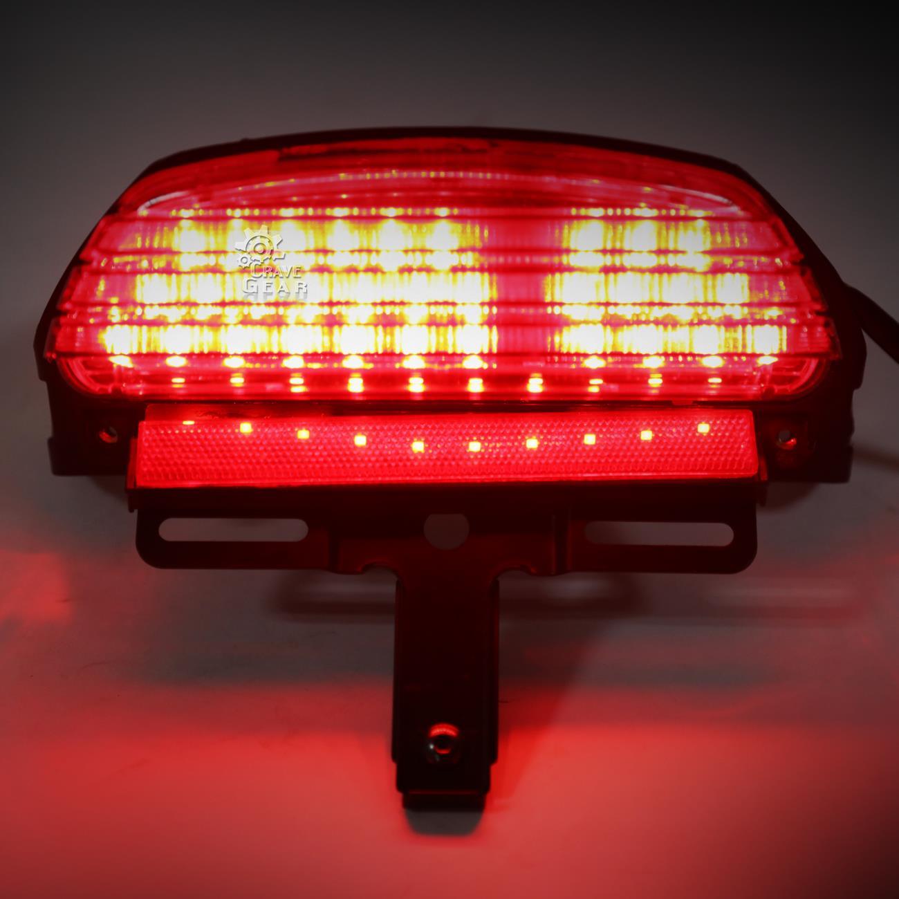 Led Red Rear Fender Tail Brake License Light For Harley