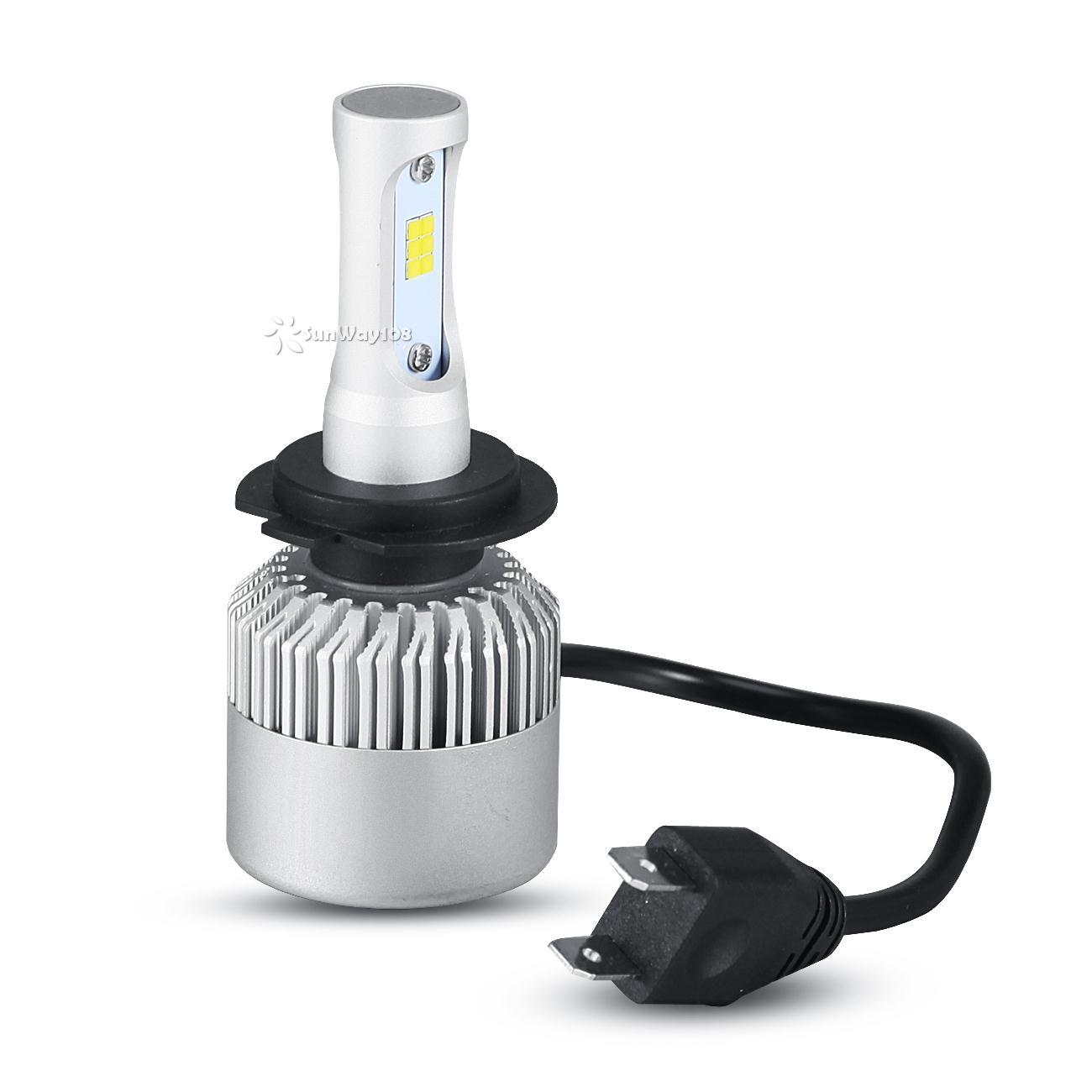 h7 philips 252w 25200lms led headlight single beam lamp bulbs kit 6500k ebay. Black Bedroom Furniture Sets. Home Design Ideas