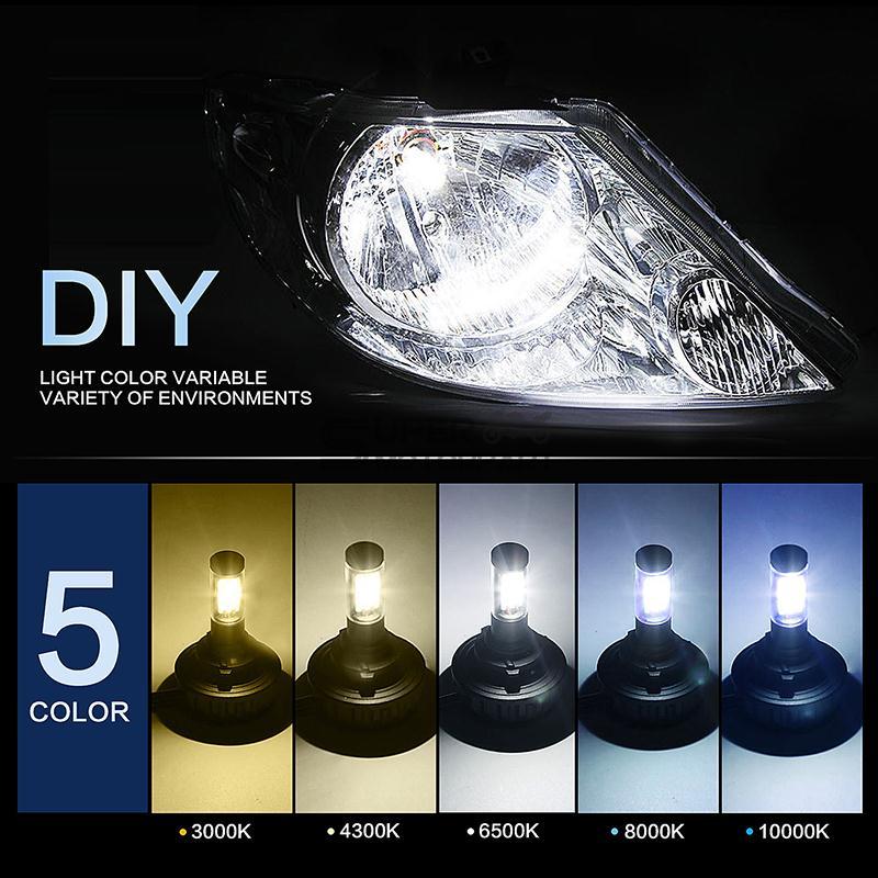 Led Lights Vs Hid Lights For Cars: Pair H7 Car CREE LED Fog Headlight Kit Bulbs 80W 8000LM