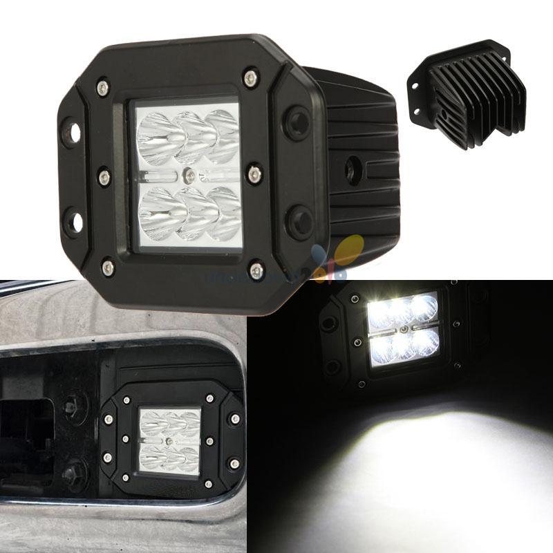 "2PCS 4"" CREE 30W LED Light Bar Fog Auxiliary Square Bumper"