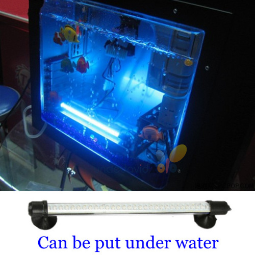 30 blue led lamp aquarium light tube fish tank coral reef for Fish tank camera