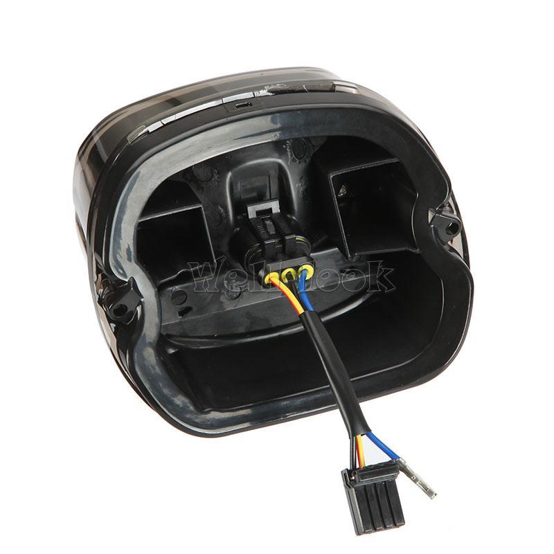 Harley Davidson Tail Light Wiring Harness : Smoke rear tail brake light led for harley davidson