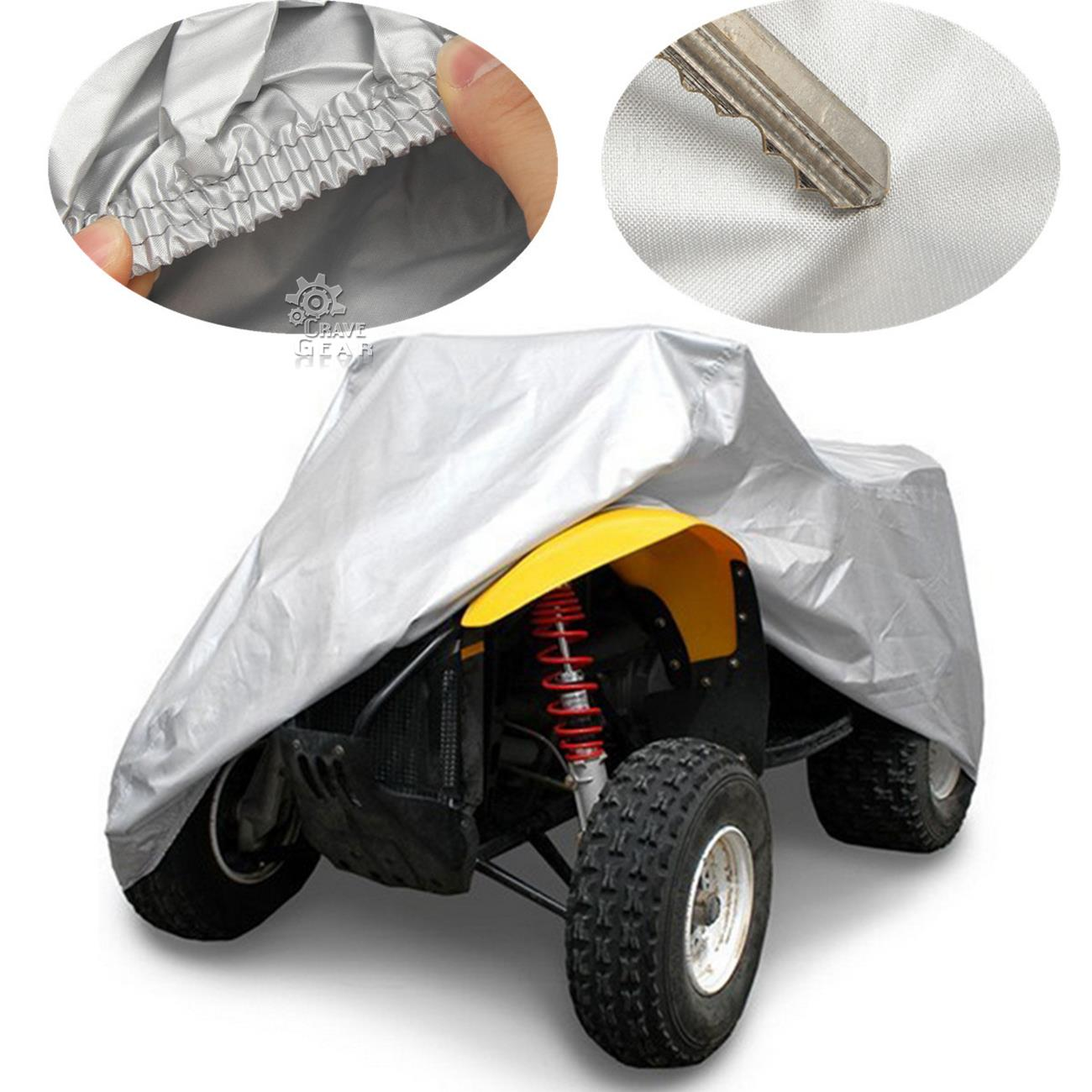 Silver Xxxl Atv Outdoor Waterproof Cover For Kawasaki Brute Force