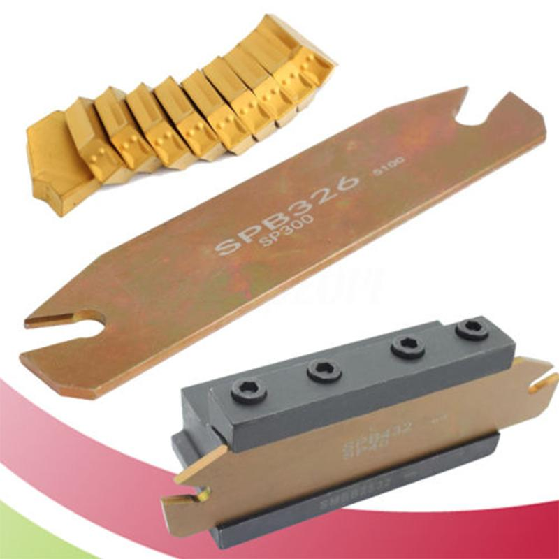 SPB26-3 26mm Parting Grooving Cut-Off Tool Holder 10xGTN-3 SP300 Insert Case