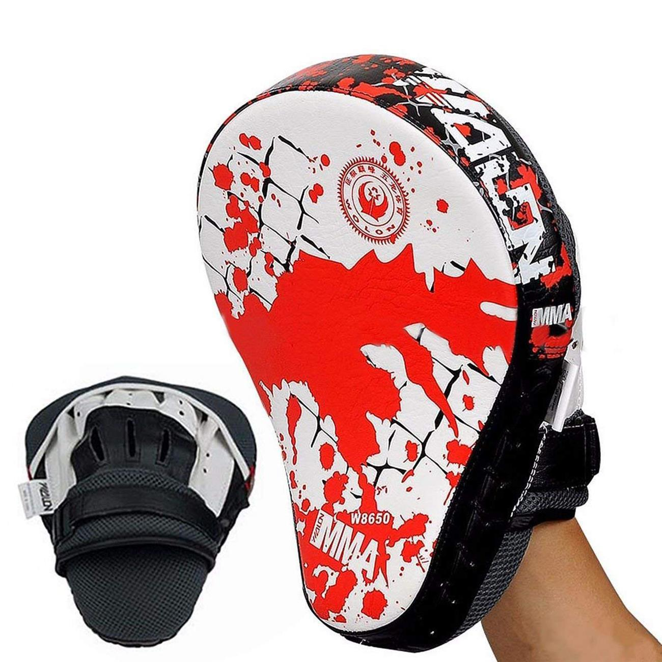 Boxing Kick Hand Target Punch Pad Glove Focus MMA Muay Thai Training PU Foam USA