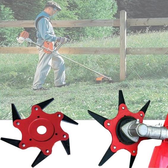 3//5//6 Blade Garden Lawn Mower Sharpener Steel Grass Trimmer Brush Cutter Head