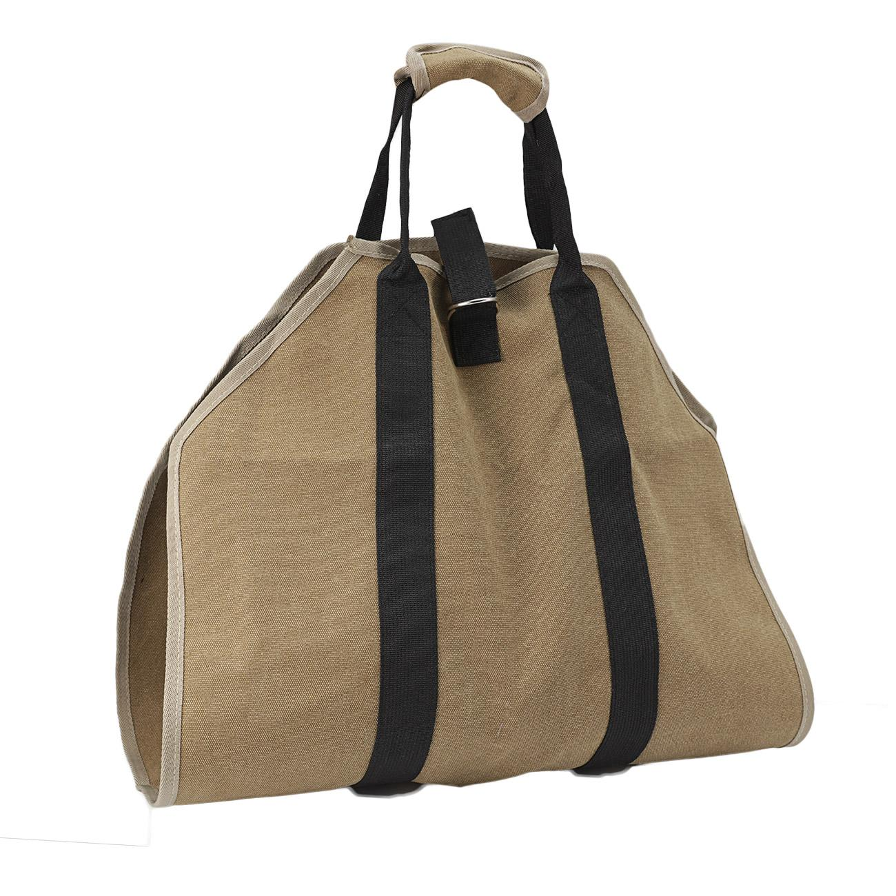 Details About Outdoor Log Carrier Firewood Tote Wood Carrying Bag Fireplace Waxed Canvas
