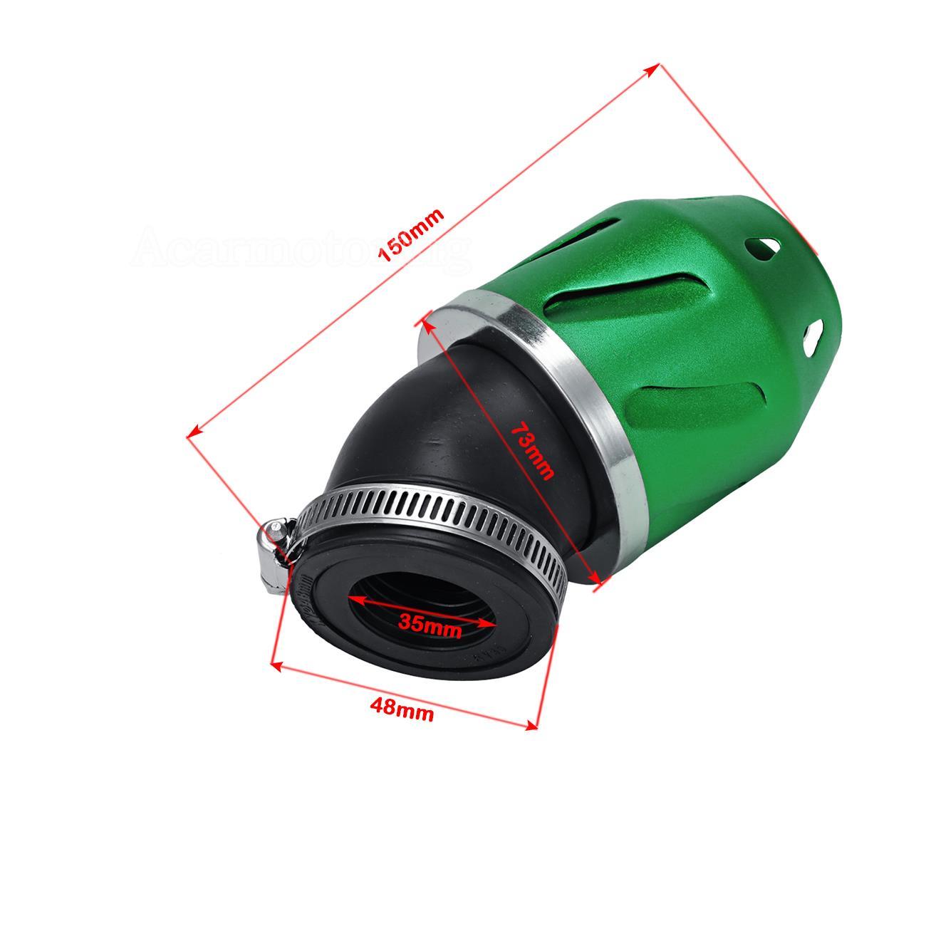 Dirt Modified Air Cleaner : Racing bullet air filter mm intake pipe cc motorcycle