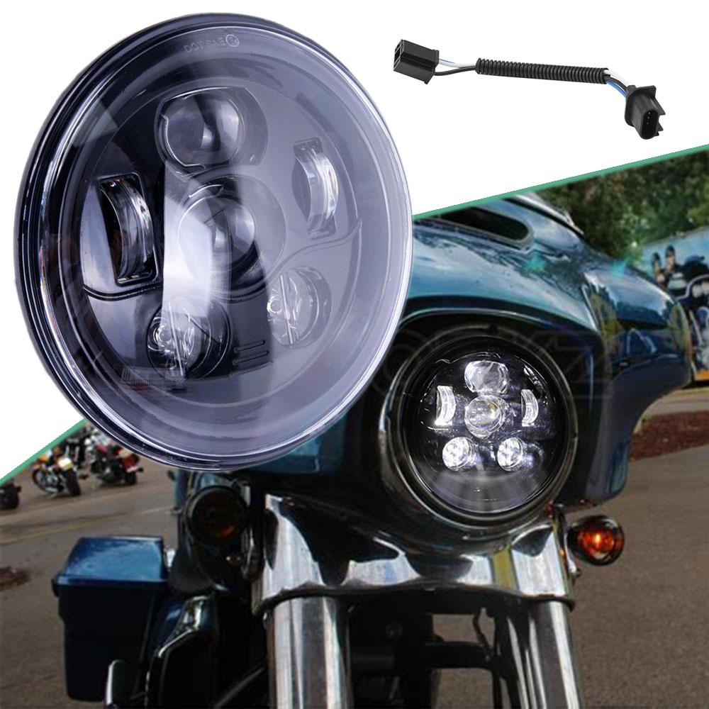 7 Led Headlight Porjector For Kawasaki Vulcan Vn 500 750 800 900