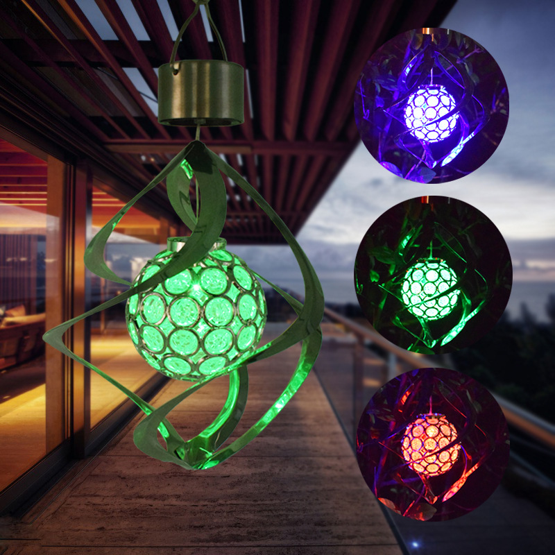 Details About Solar Ed Changing Led Hanging Light Decorative Wind Chimes Lamp Decor