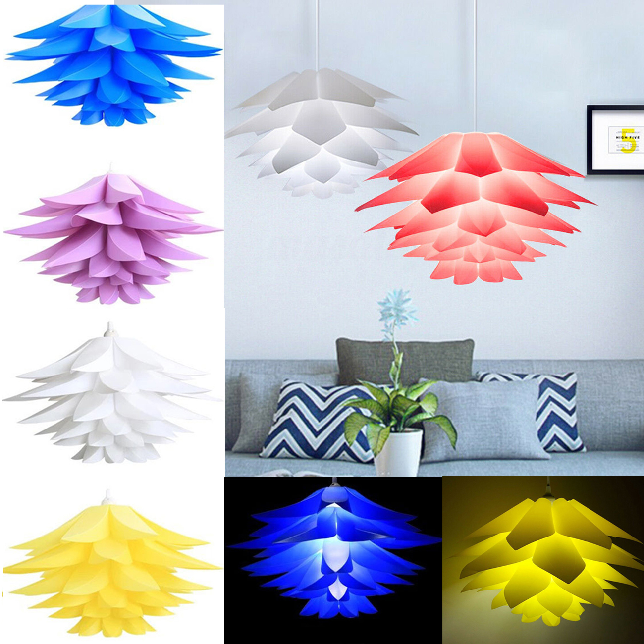 multiple colors and sizes 30Pc IQ Puzzle Jigsaw Light Lamp Shade pieces