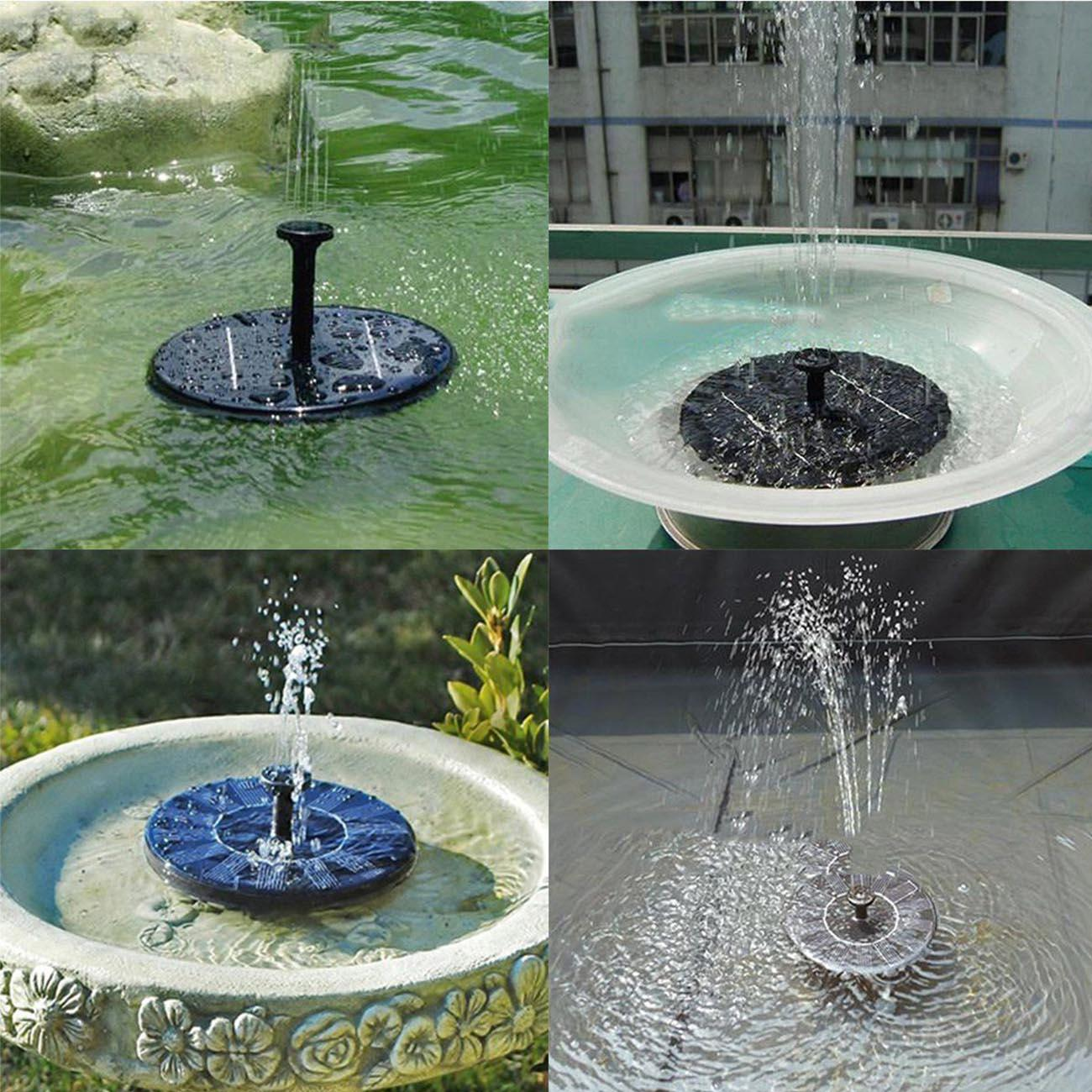 Solar Power Fountain Pool Water Pump Panel Garden Plants Watering Garden Outdoor