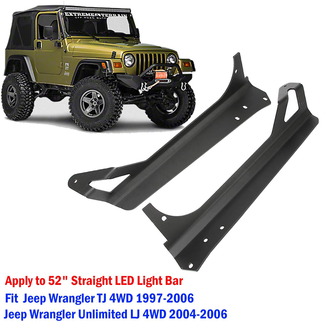"""Windshield Mounting Bracket for 50/""""inch LED Light Bar Jeep Wrangler TJ  97-06 LJ"""