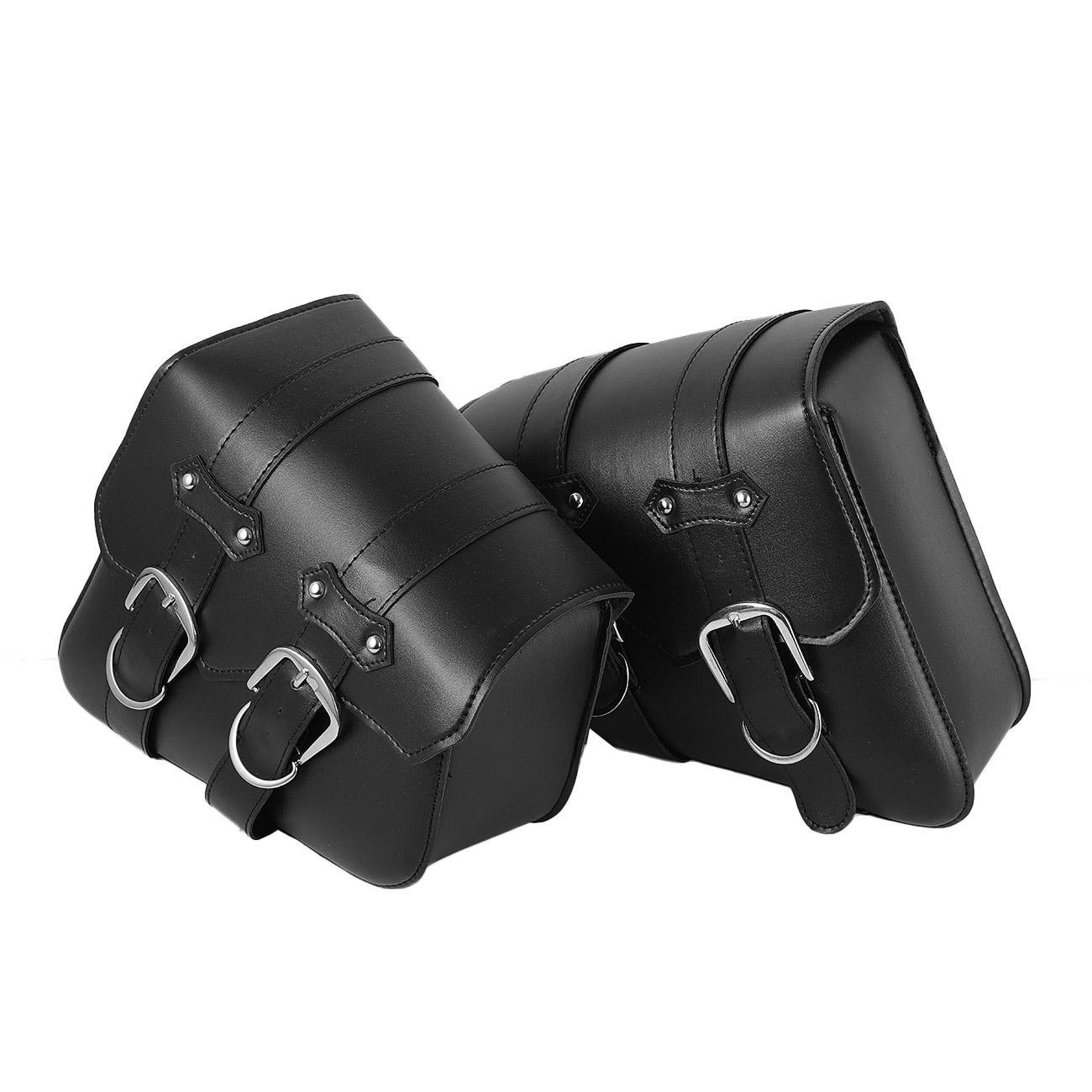 Motorcycle Black Side Saddle Bags For Harley Davidson Sportster XL883 1200