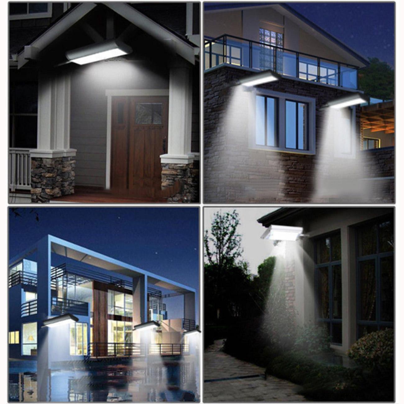 70LED Solarleuchte Außen Wandlampe Wandleuchte Fernbedienung Gartenlampe IP65