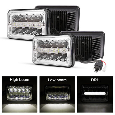 4x6 Cree Led Headlight 45w High Low Beam Drl For Freightliner Fld120 112 Fld