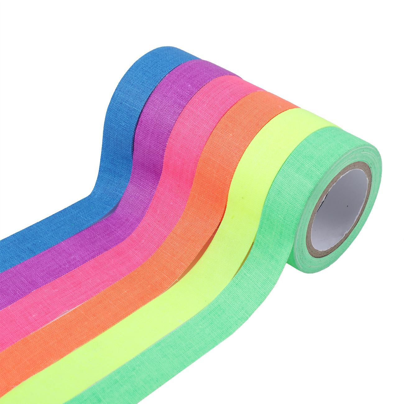 6x Heavy Duty UV Blacklight Reactive Fluorescent Neon Gaffer Tape Cloth Matte