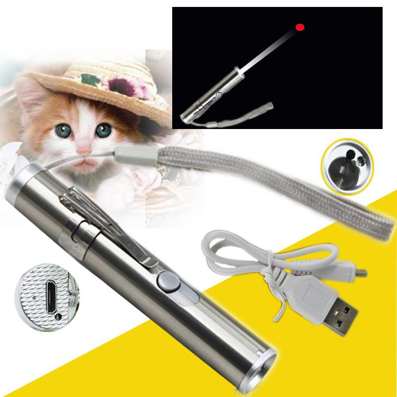 Novelty Premium Rechargeable Red Laser Pointer /& Lazer//Flashlight Funny Cat Toy