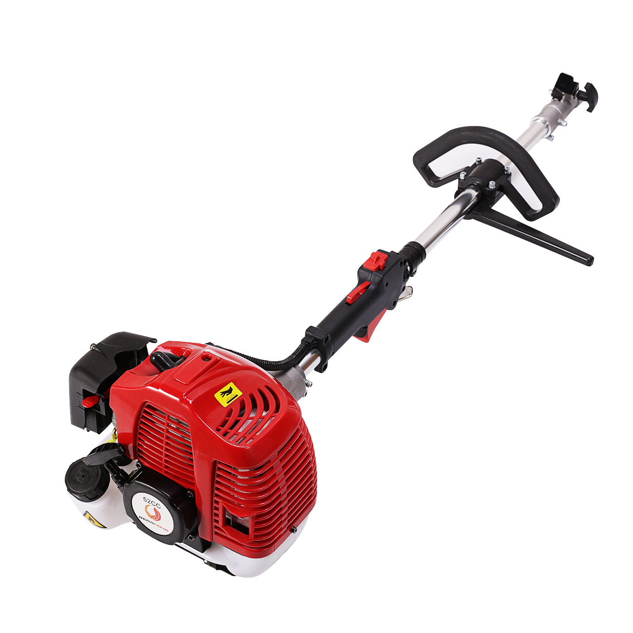 52cc Gas Power Broom Walk Behind Dirt Snow Sweeper Hand