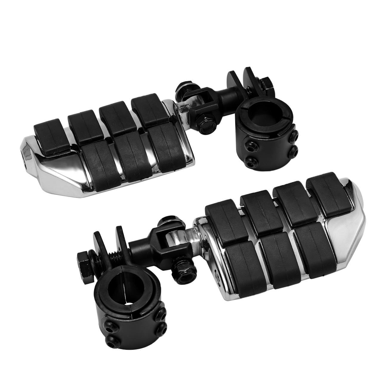 Clamps For Honda VTX 1300 C R S RETRO Chrome AntiVibrate Engine Guard Foot Pegs