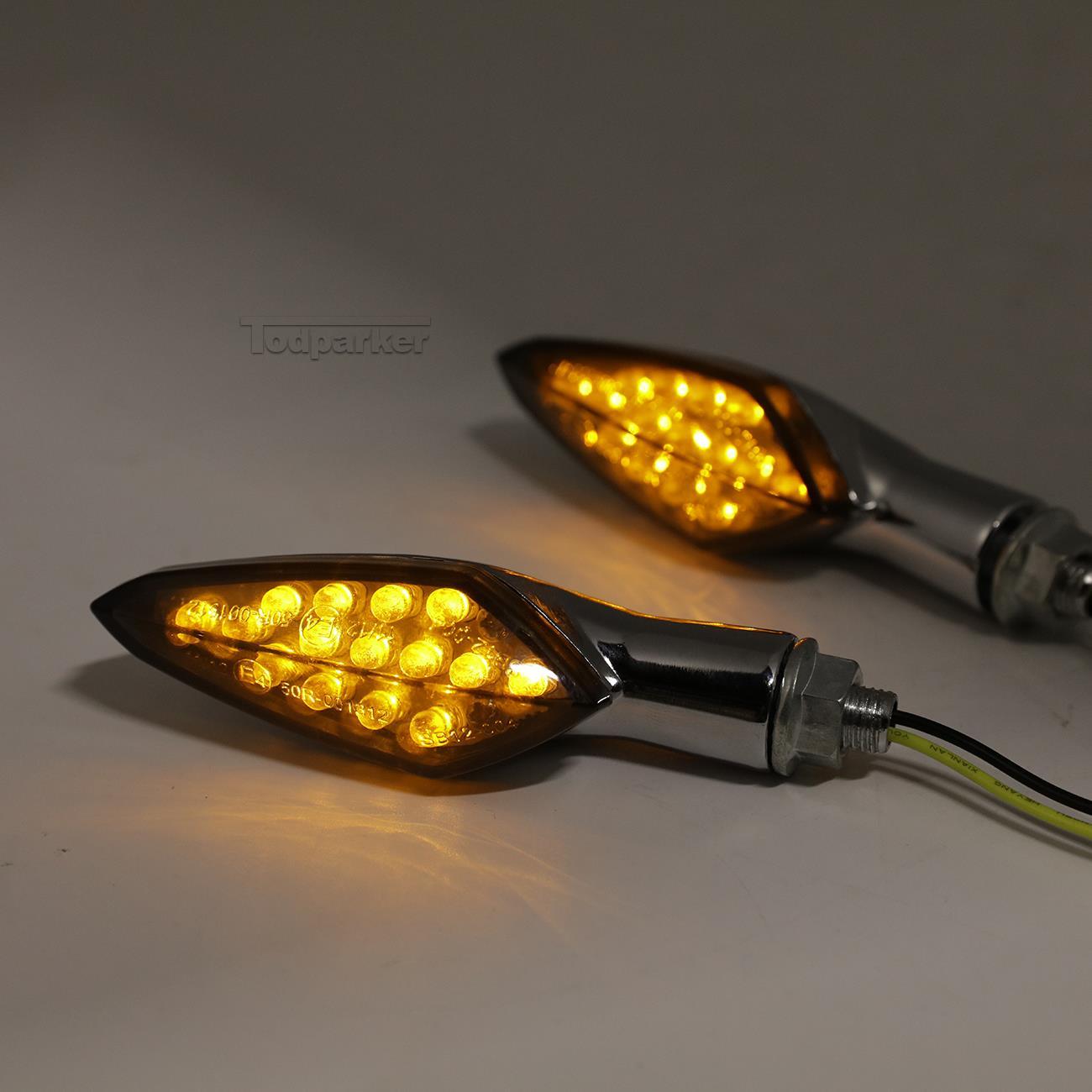 4pcs Motorcycle Turn Signals For Yamaha Virago 250 500 535 700 750 920 1100 1150