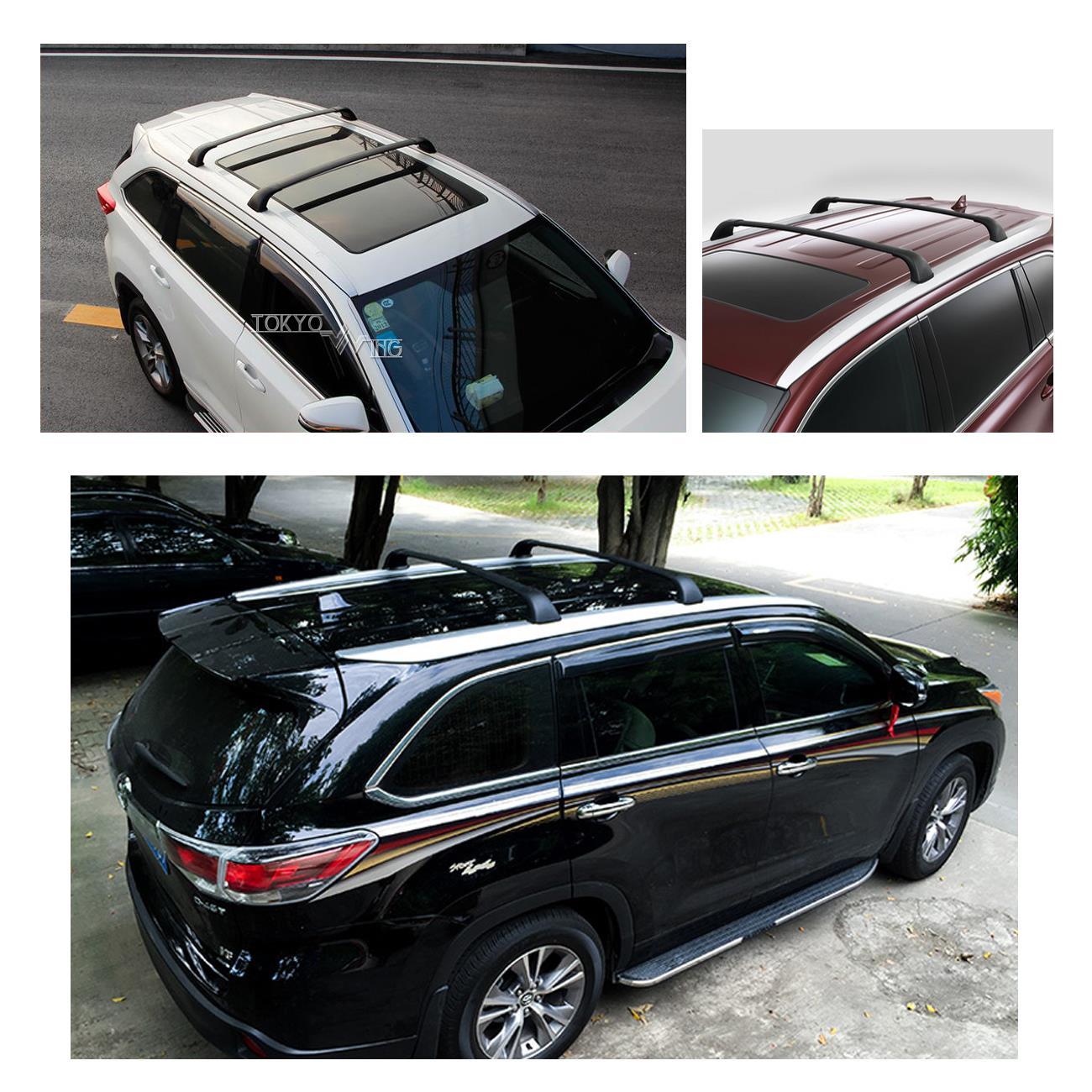 for 14 16 up toyota highlander xle top roof rack luggage. Black Bedroom Furniture Sets. Home Design Ideas