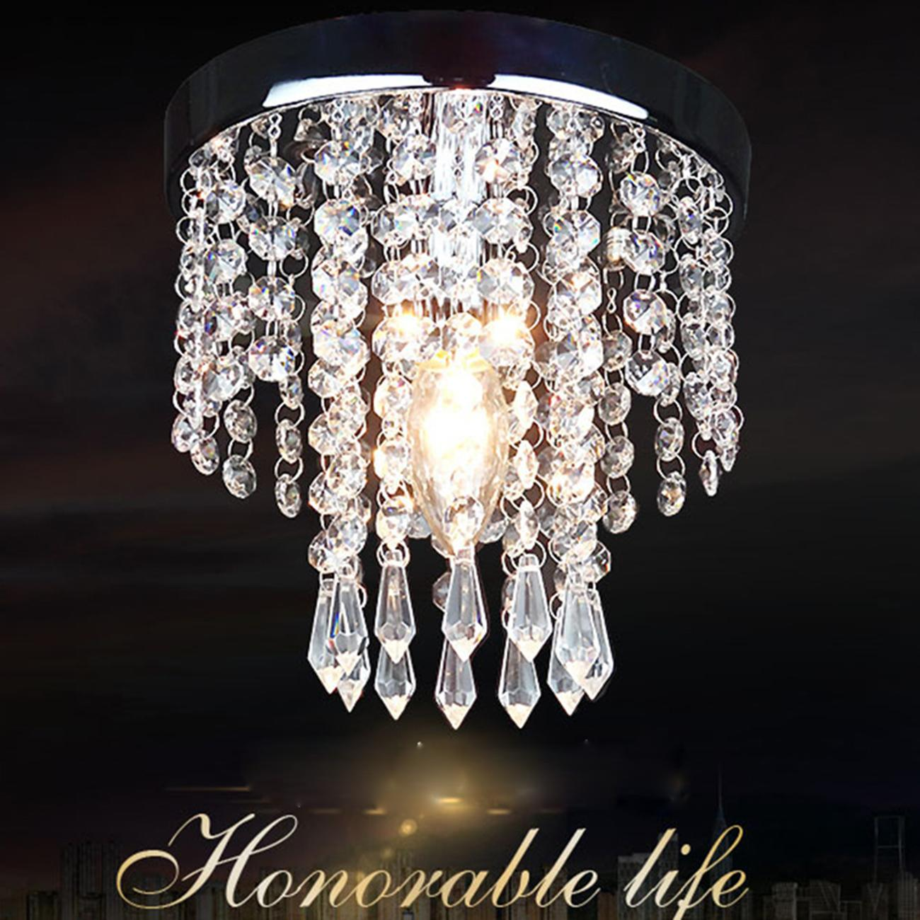 Details About Aisle Bedroom Crystal Chandelier Pendant Lamp Ceiling Light  Lighting Fixture