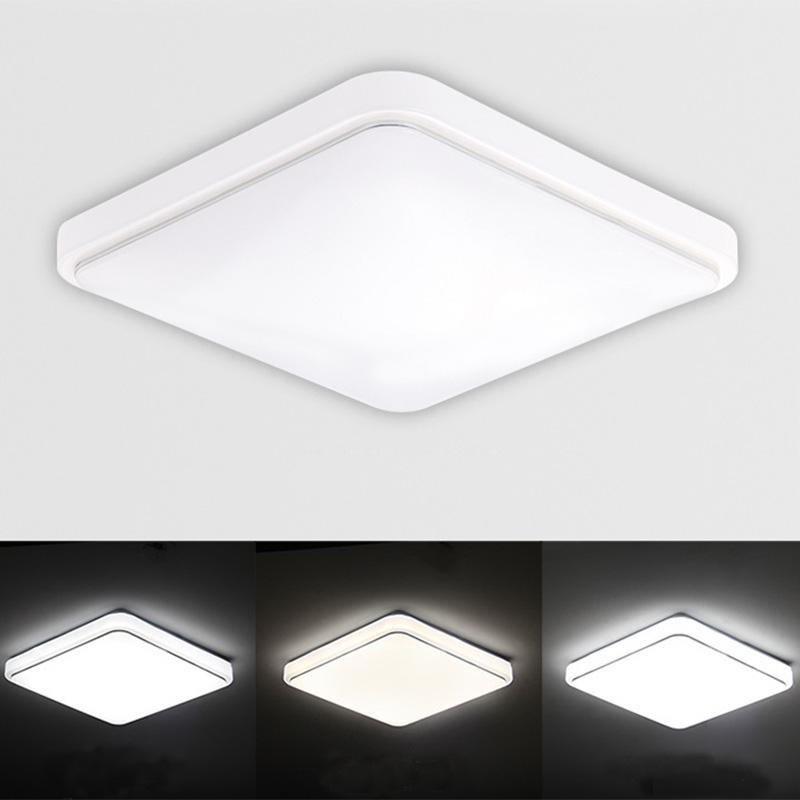 Details About Square Led Ceiling Down Bright Light Panel Wall Kitchen Bathroom Lamp White