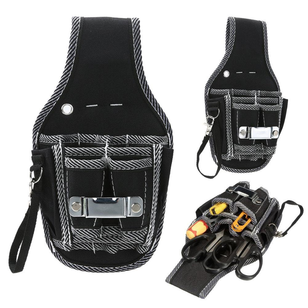 fbc076a1cce8 Details about 9in1 Electrician Waist Pocket Belt Tool Pouch Bag Screwdriver  Utility Kit Holder