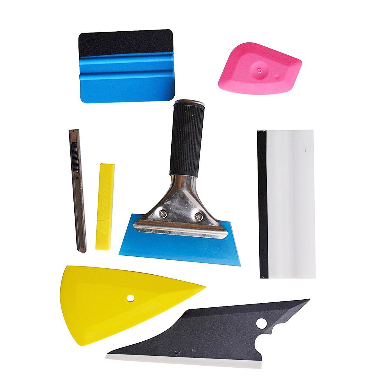 8 PCS Car Window Tint Wrapping Vinyl Tools 3M Squeegee Scraper Applicator Kits