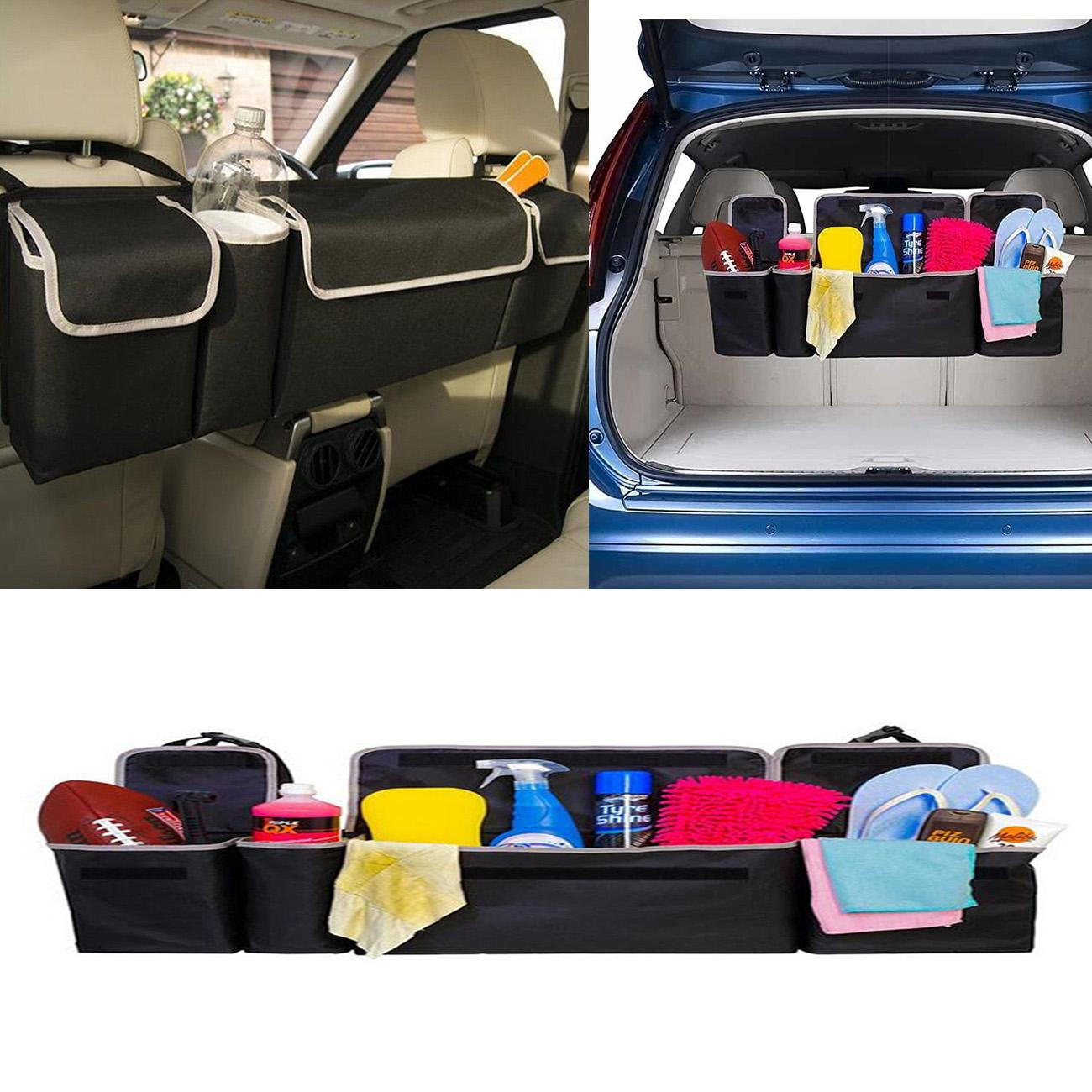 Oxford Car Seat Back Organizers High Capacity Multi-use For Interior Accessories