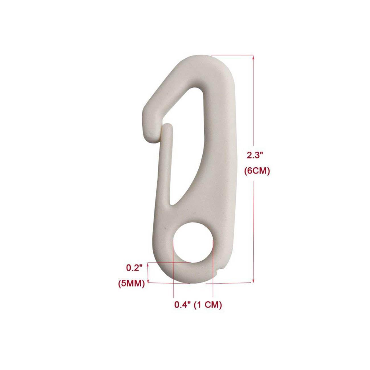 4x Flag Pole Clip Snap Crochets nylon Mât fixation Matériel Attache Pole