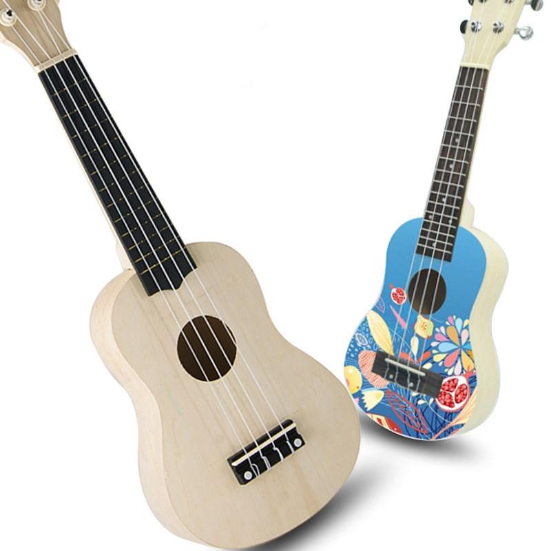 Details About 1pcs 21 Ukulele Hawaii Guitar Diy Wooden Musical Instrument Beginner Kid Gift
