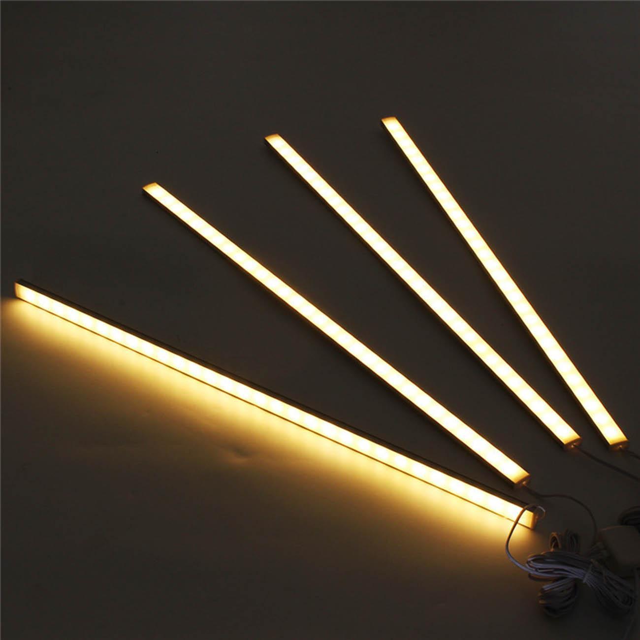 4Pcs 50CM Kitchen Under Cabinet Counter Lighting LED
