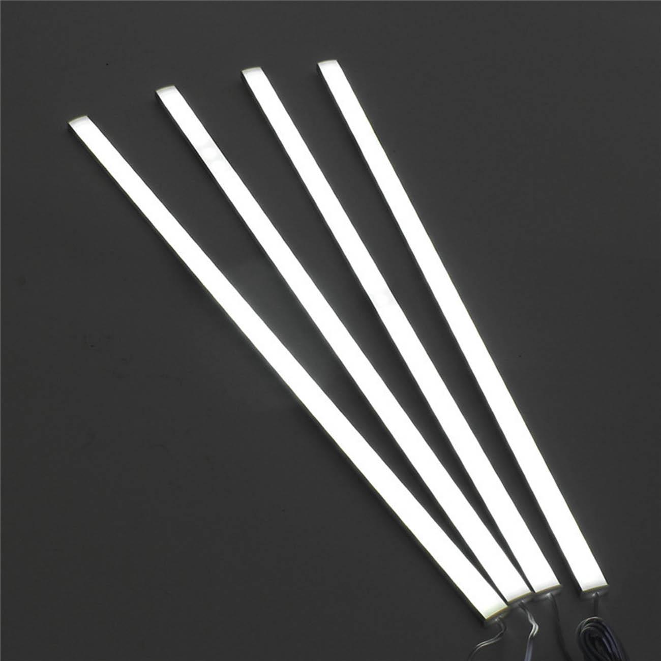 4*50CM Kitchen Under Cabinet Counter Lighting LED Light Showcase Rigid Strip 28W