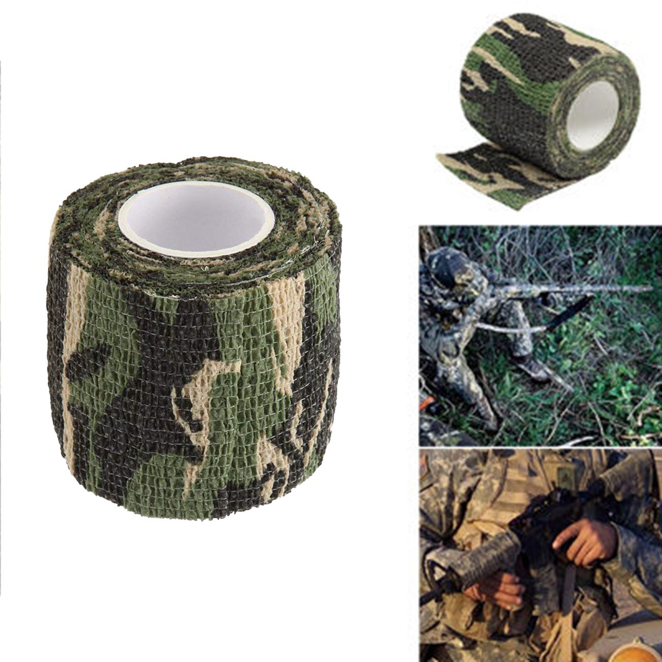 3 Rolls 4.5M Camo Gun Rifle Waterproof Camouflage Stealth Duct Tape Wrap Hunting